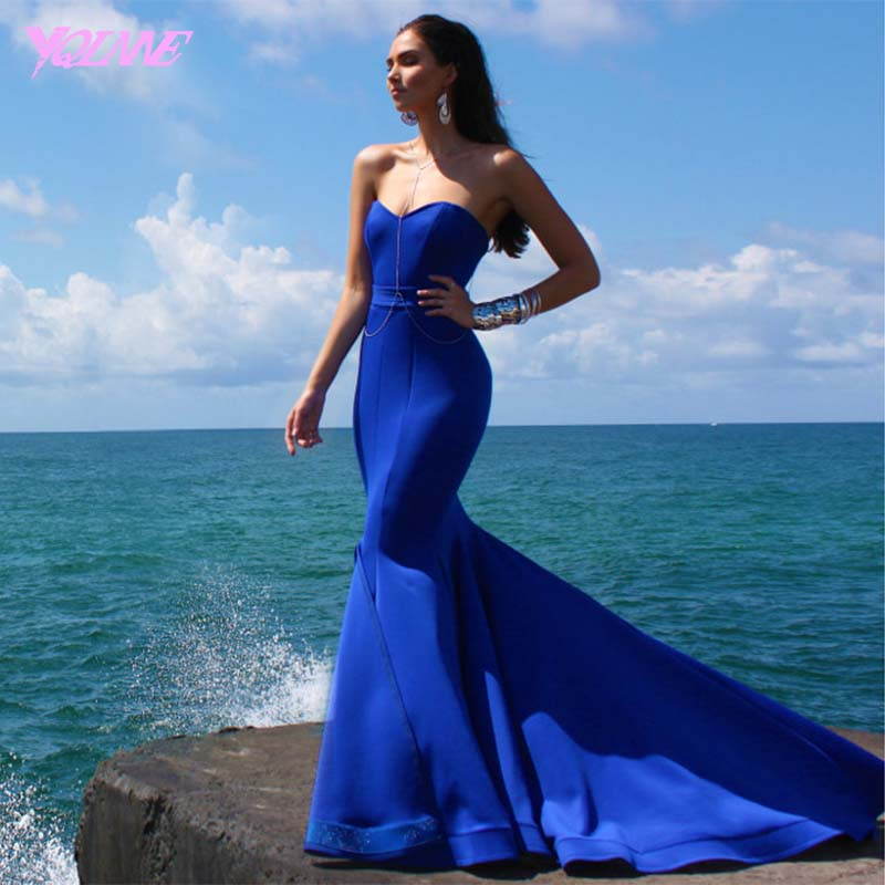 Sweetheart Prom Dresses,Prom Dress,Evening Dress,Mermaid Dresses,Royal Blue Dress