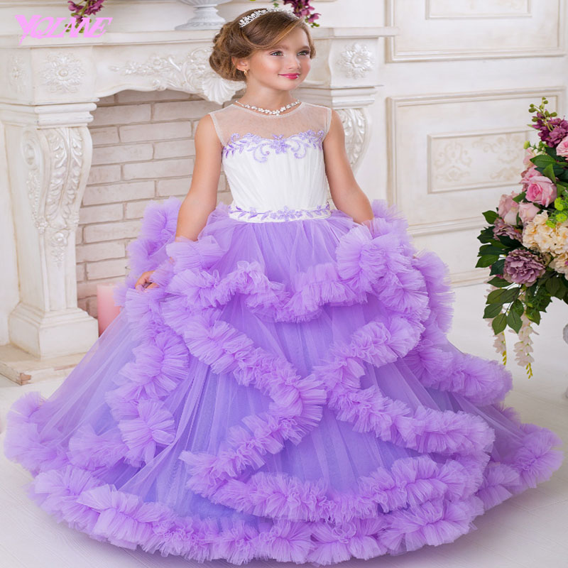 Ball Gown Flower Girl Dresses ,Beauty Pageant Gown ,Kids Dress ...
