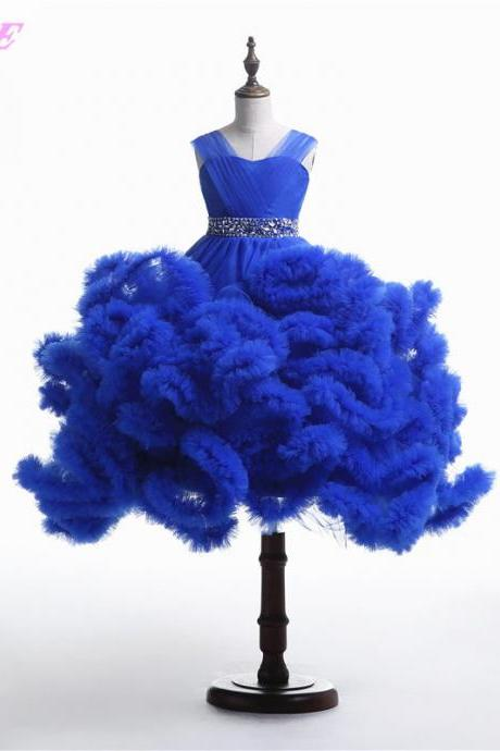 Girls Pageant Dresses,Flower Girls Dresses,Kids Dresses,Children Dresses,Royal Blue Dresses,Ball Gown Girls Dresses,Wedding Party Dress