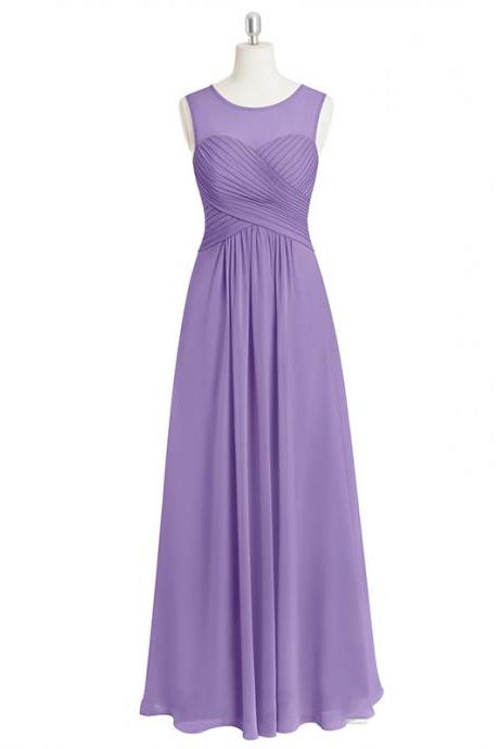 Light Purple Ruched Sweetheart Illusion Floor Length A-Line Formal Dress, Prom Dress
