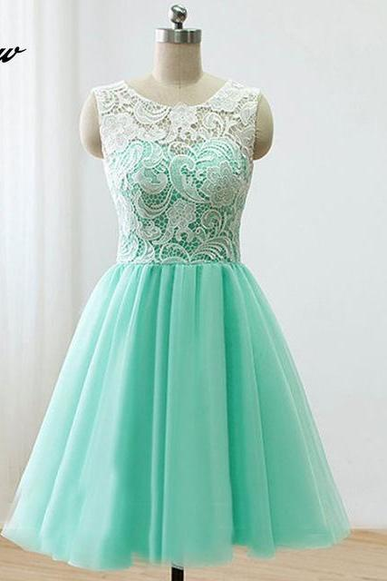 Mint Green Short Homecoming Dresses Party Dress Cocktail Dresses