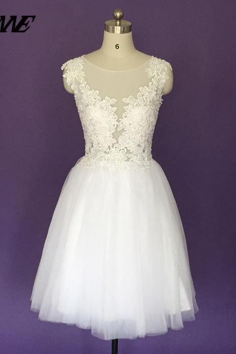 White Prom Dresses Short Party Dress