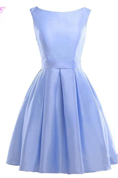 Sky Blue Short Prom Dresses,Prom Dress