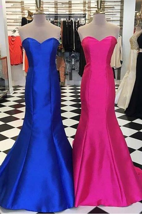 Royal Blue Prom Dresses ,Prom Dresses 2017,Sweetheart Prom Dress,Mermaid Dresses,Evening Gown,Fashion Dresses