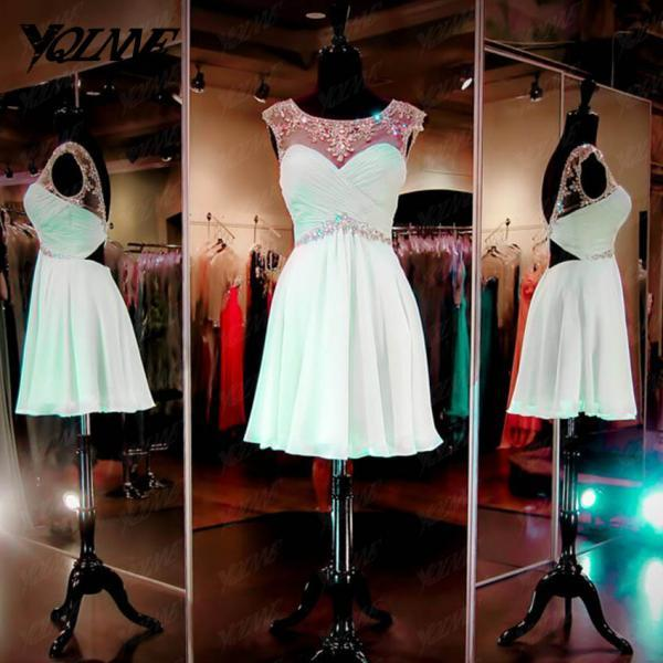 Mint Crystals Homecoming Dresses,Party Dresses